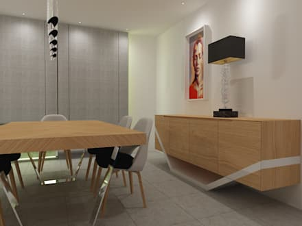 Sala de Jantar: Salas de jantar escandinavas por Angelourenzzo - Interior Design