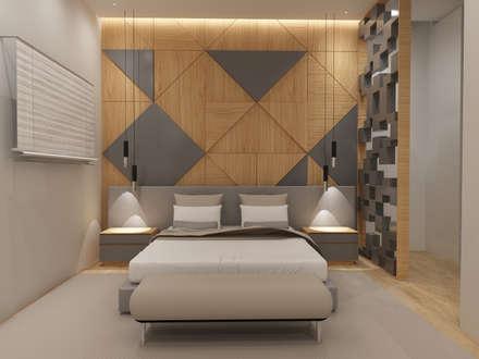 Quarto Suíte: Quartos escandinavos por Angelourenzzo - Interior Design
