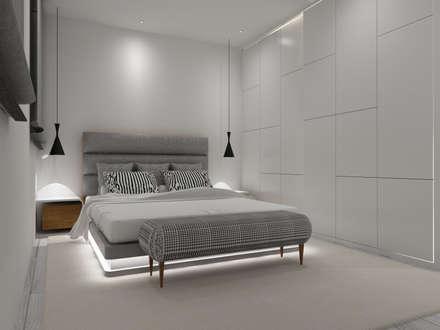 Apartamento Côte D'Azur: Quartos escandinavos por Angelourenzzo - Interior Design