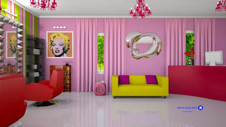 Beauty salon in Pop Art style:  Commercial Spaces by 'Design studio S-8'