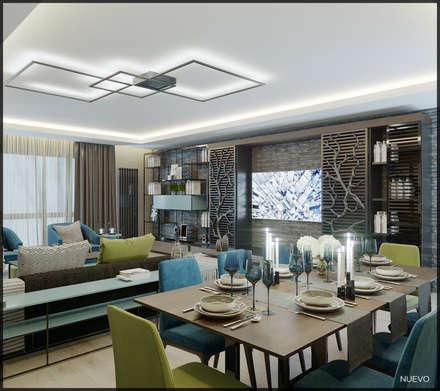 Nuevo Tasarım – Ankara Park Vadi Ev Projesi: modern tarz Oturma Odası