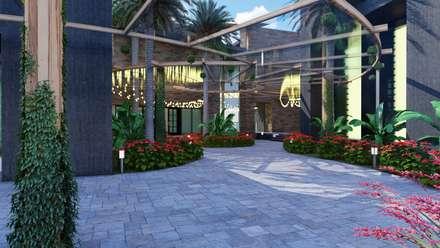 Salones de eventos de estilo  por BUILD ARQUITECTURA