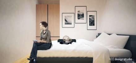 Slice House: minimalistic Bedroom by Plus Zero Two Design Studio