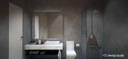 Slice House: minimalistic Bathroom by Plus Zero Two Design Studio