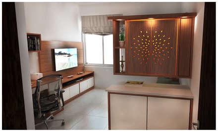 Oficinas de estilo minimalista por Sandarbh Design Studio