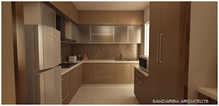 مطبخ تنفيذ Sandarbh Design Studio