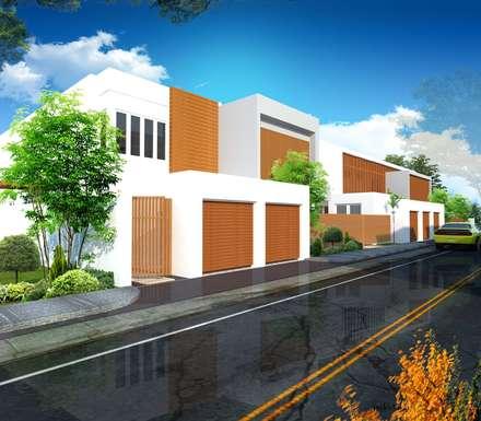 Modern Minimalist Design: minimalistic Houses by E V Design + Architects