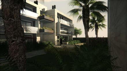 PH Terrada: Casas multifamiliares de estilo  por Gustavo Avila, arquitecto