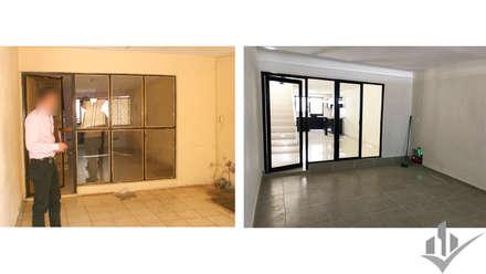 REMODELACIÓN CASA HABITACIÓN: Garajes de estilo minimalista por Dehonor Arquitectos