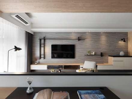 ห้องนั่งเล่น by 御見設計企業有限公司