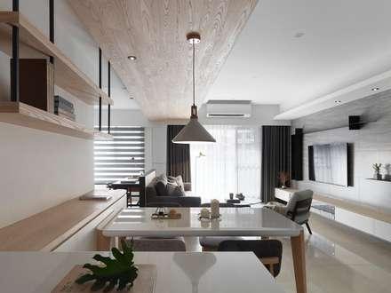 minimalistic Dining room by 御見設計企業有限公司