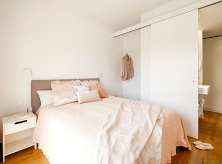 Habitación Doble: Dormitorios de estilo escandinavo de Sezam disseny d'Interiors SL