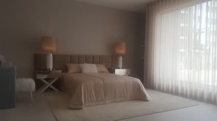 QUARTO CASAL, CONTEMPORANEO: Quartos modernos por TEXTURAS INTERIORES, Design de Interiores, Lda