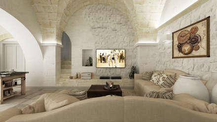 Apulia House AA: Soggiorno in stile in stile Rustico di De Vivo Home Design