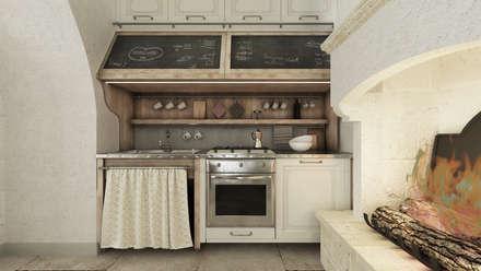 Apulia House AA: Cucina in stile in stile Rustico di De Vivo Home Design