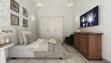 Apulia House AA: Camera da letto in stile in stile Rustico di De Vivo Home Design