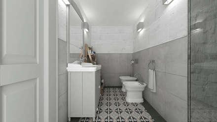 Apulia House AA: Bagno in stile in stile Rustico di De Vivo Home Design