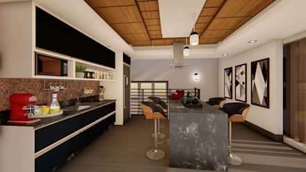 Cucinino in stile  di TRAIT ARQUITETURA E DESIGN