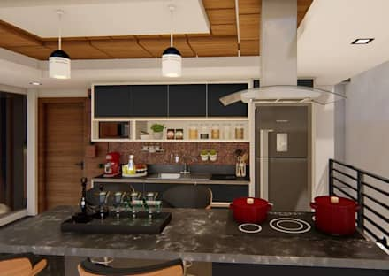 Kitchen units by TRAIT ARQUITETURA E DESIGN
