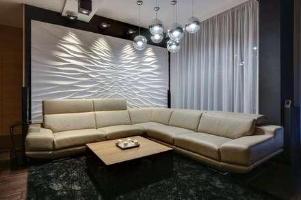 3d Wandbild Aus Gips Modell Illusion: Ausgefallene Wohnzimmer Von Loft  Design System Deutschland
