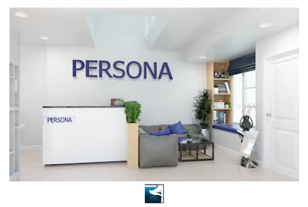Interior Design : Persona Office Design:  อาคารสำนักงาน ร้านค้า by Blufox eco-solution Co., Ltd.