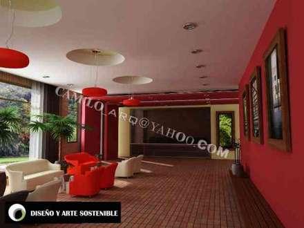 interior lobby: Edificios de oficinas de estilo  por coardeco