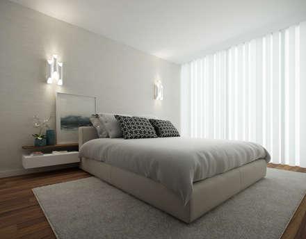 #Home for two: Quartos modernos por 411 - Design e Arquitectura de Interiores