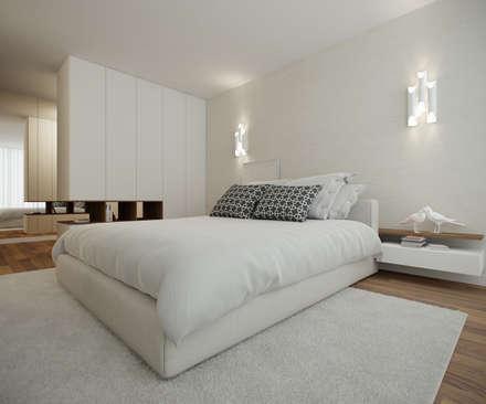 Home for Two: Quartos modernos por 411 - Design e Arquitectura de Interiores