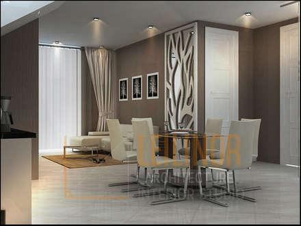 Rumah Modern:  Ruang Makan by CV Leilinor Architect