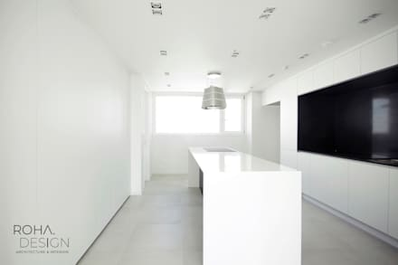 minimalistic Dining room by 로하디자인