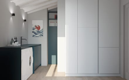 Attico - Interior design: Spogliatoio in stile  di ALMA Architettura   Mario Pan   Alessandro Pezzotti