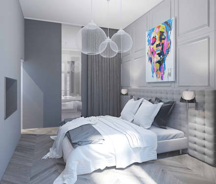 Chambre épurée: Chambre de style de style Moderne par réHome