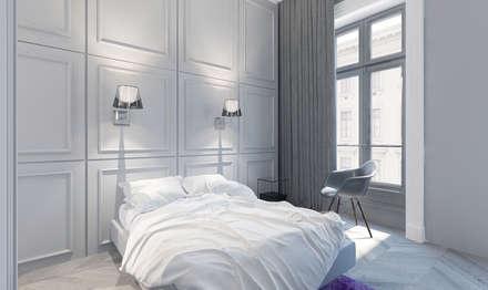 Chambre ton blanc: Chambre de style de style Moderne par réHome
