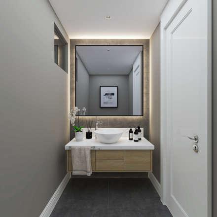 Duygu Solaker  – Misafir WC: modern tarz Banyo