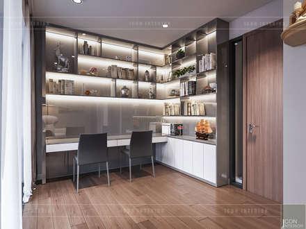 THIẾT KẾ BIỆT THỰ PALM CITY - Nét đẹp giao hòa trong không gian sống hiện đại:  Phòng học/Văn phòng by ICON INTERIOR