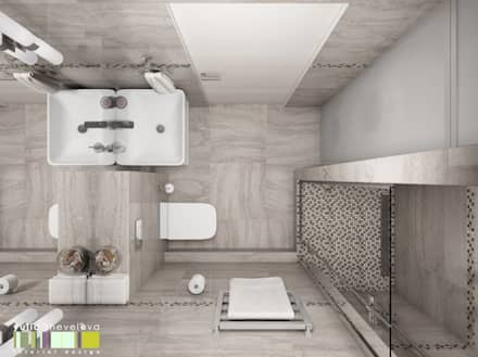 Легкая жизнь: Ванные комнаты в . Автор – Мастерская интерьера Юлии Шевелевой