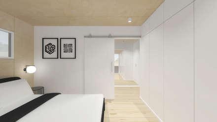 Quarto principal: Quartos modernos por Estúdio AMATAM