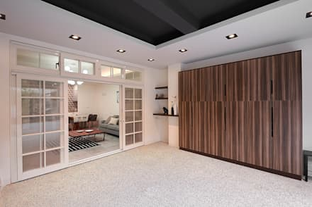 scandinavian Garage/shed by 層層室內裝修設計有限公司