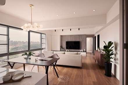رہنے کا کمرہ  by 層層室內裝修設計有限公司