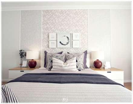The Intimist Light: Quartos ecléticos por RG Home Stylist
