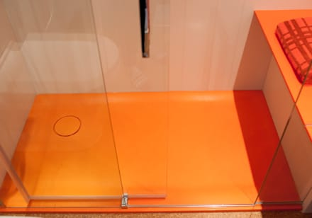 Orange Coloured Bathroom: eclectic Bathroom by Solidity Ltd
