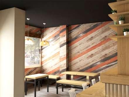 Restaurante AKABEKO: Comedores de estilo industrial de Klausroom