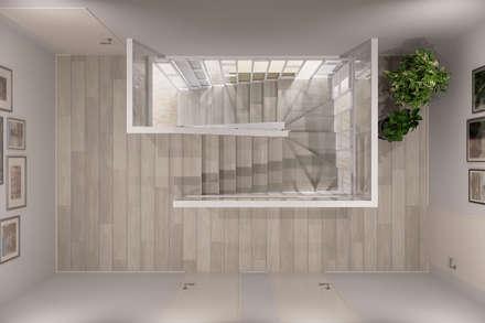 Escaleras de estilo  de Студия архитектуры и дизайна Дарьи Ельниковой