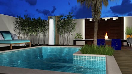 eclectic Pool by Trivisio Consultoria e Projetos em 3D