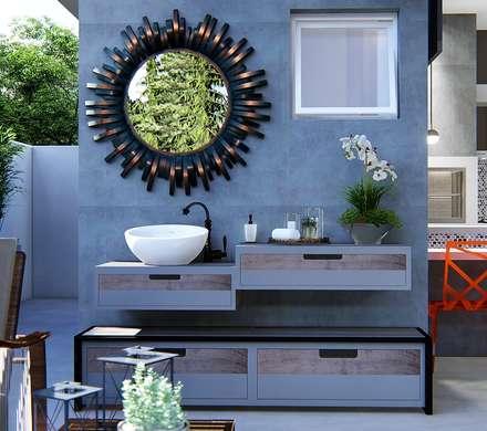 Lavabo: Jardins ecléticos por Trivisio Consultoria e Projetos em 3D
