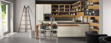 L'ottocento-Living Design: Cucina attrezzata in stile  di ROOM 66 KITCHEN&MORE