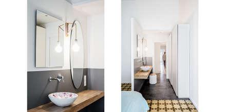 Baño del dormitorio principal, suit.: Dormitorios de estilo ecléctico de Abrils Studio