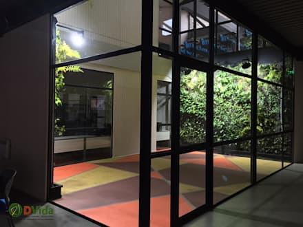Front garden by DVida Jardines verticales