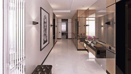 ЖК «Алые паруса»   Residential complex «Alie Parusa»: Коридор и прихожая в . Автор – Дмитрий Коршунов