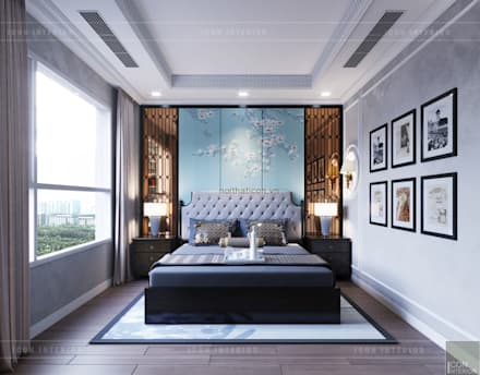 asian Bedroom by ICON INTERIOR